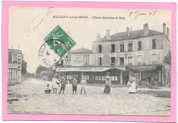 93 AULNAY SOUS BOIS - Place Jeanne D'Arc - Animée - Aulnay Sous Bois