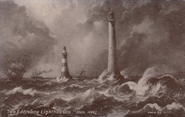 Two Eddystone Lighthouses, 1900-10s - Lighthouses
