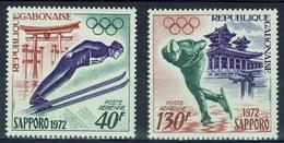 Gabon, Sapporo (Japan) Winter Olympics, 1972, MNH VF airmail, a Pair - Gabon
