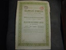 "Obligation "" Les Tramways D'Odessa "" 1880 Sans Coupon Railway - Spoorwegen En Trams"