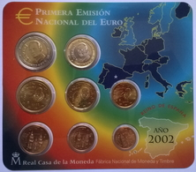 COFFRET BU - ESPAGNE - 2002 - 1cts à 2€ (8 Pièces) - Spanje