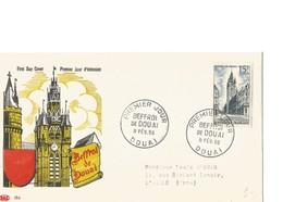 FDC Timbre Beffroi De Douai 1956  Y/T N°1051 - 1950-1959