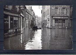71. Chalon Sur Saone. Carte Photo Inondations. Rue Gloriette. Angle De La Rue Pasteur - Chalon Sur Saone