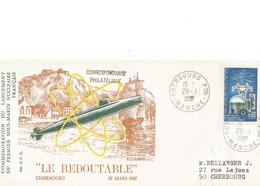 Enveloppe Souvenir 20 Ans Du Lancement Sous-marin Le Redoutable 1967-1987 Cherbourg (manche) - Autres