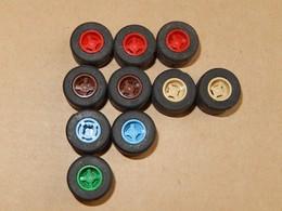 10 Roues Lisses Lego Beige - Rouge - Marron - Bleu 30028 - Lego System