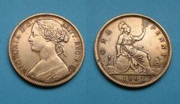 GB 1 Penny Victoria 1862 Bronze Sehr Schön !   (A301) - Otros