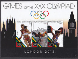 Olympics 2012 - Weightlifting - PAPUA NEW GUINEA - S/S MNH - Eté 2012: Londres