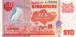 SINGAPORE= N/D    10  DOLLARS     P-11          UNC - Singapore