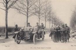 CPA (1914-1918)   Un Poste Dans La Somme  (b.bur Theme) - Guerre 1914-18
