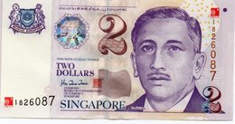 SINGAPORE= N/D    2  DOLLARS     P-45          UNC - Singapore