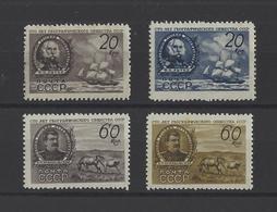 RUSSIE.  YT  N° 1111/1114  Neuf *  1947 - Unused Stamps
