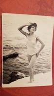 Old Original Photo Lady Woman In Swim Suit 1960s Black Sea - Soviet Beach - Anonyme Personen