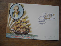 1968 FDC 200e Anniversaire Captain Cook Ier Voyage - FDC