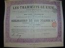 """Bond Obligation""""Les Tramways De Kiev"""" Kiew 1905 Reste Des Coupons Russie Russia. - Chemin De Fer & Tramway"""