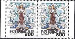 Faroer 1999 Natale Annunciazione A Maria / Dänemark Färöer 1999 Mi-Nr. 2x367 Weihnachten Verkündigung - Färöer Inseln