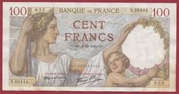 "100 Francs ""Sully "" Du 04/12/1941.CU--F/TTB+ ---ALPH.N.26444--AUCUN TROU D EPINGLE - 1871-1952 Circulated During XXth"