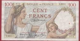 "100 Francs ""Sully "" Du 07/03/1940.HC--F/TTB+ ---ALPH.V.8211 - 1871-1952 Circulated During XXth"