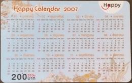 Mobilecard Thailand - Happy  - Kalender,calendar 2007  - 30/06/2009 (2.3) - Thailand