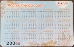 Mobilecard Thailand - Happy  - Kalender,calendar 2007  - 31/03/2009 (2.3) - Thailand