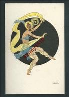 GOBBI. Série De 4 Cartes Elite 2560.  Danseuse, Danse Orientale.  Scans Recto/verso - Illustrators & Photographers