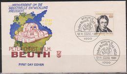 Berlin FDC 1981 Nr.654  200. Geb.Peter Christian Wilhelm Beuth (d 1697 ) Günstige Versandkosten - FDC: Covers