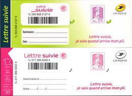 LA LETTRE SUIVIE (LS 2 Et LS 3) Type Ciappa De 2015 Et 2016. Seule Proposition Sur Delcampe. - Frankrijk