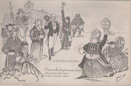 """CPA Caricature Satirique Religion """"le Retour Du Pasteur"""" Anticléricalisme Anti-cureton Illustrateur (2 Scans) - Christianity"""