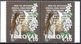 Faroer 2000 Natale Santa Maria In Attesa / Dänemark Färöer 2000 Mi-Nr. 2x385 Weihnachten Heilige Maria - Färöer Inseln