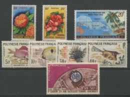 Polynesie Annees Completes (1962) N 15 A 21 Et PA N 6 (Luxe) - Polynésie Française