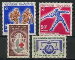 Polynesie Annees Completes (1963) N 22 A 25 (Luxe) - Polynésie Française