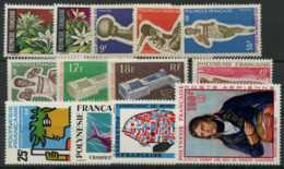 Polynesie Annees Completes (1969) N 64 A 71 Et PA 27 A 31 (Luxe) - Polynésie Française