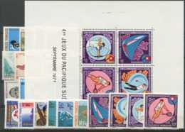 Polynesie Annees Completes (1971) N 82 A 91 Et PA 45 A 54 Et BF 2 (Luxe) - Polynésie Française