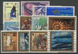 Polynesie Annees Completes (1973) N 93 Et PA 71 A 81 (Luxe) - Polynésie Française