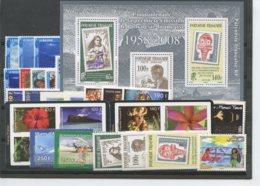 Polynesie Annees Completes (2008) N 824 A 861 Et BF 34 - Komplette Jahrgänge