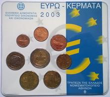 COFFRET BU - GRECE - 2003 - 1cts à 2€ (8 Pièces) - Grèce