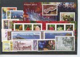 Polynesie Annees Completes (2012) N 978 A 1012 Et BF 38 (Luxe) - Komplette Jahrgänge
