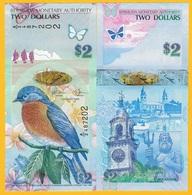 Bermuda 2 Dollars P-57c 2009 UNC Banknote - Bermuda