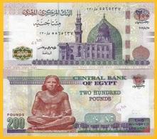 Egypt 200 Pounds P-77 2019 (Date 25.8.2019) UNC - Egipto
