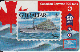GIBRALTAR - Stamp, Warships/HMCS Prescott, CN : 608L, Tirage 5000, Mint - Gibraltar