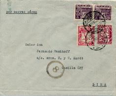 CHICLAYO  / Peru  - 7.EN.1933 , Luftpostbrief Nach Lima - Perú
