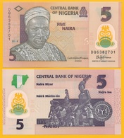 Nigeria 5 Naira P-38 2018 UNC Polymer Banknote - Nigeria