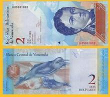 Venezuela 2 Bolivares P-88d 2012 (31.01.2012) UNC Banknote - Venezuela