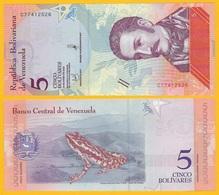 Venezuela 5 Bolivares P-102 2018 UNC Banknote - Venezuela