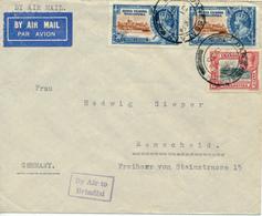 KENYA  UGANDA TANGANYIKA  - 31 AU 1935 , Luftpostbrief Nach Remscheid   -  Big Letter, Dispatch =  4,20 EURO - Kenia (1963-...)