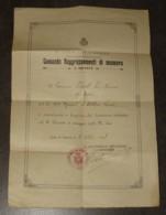 AUTORISATION MILITAIRE PREMIERE GUERRE MONDIALE. R. ESERCITO ITALIANO. COMANDO RAGGRUPPAMENTI DI MANOVRA 2e ARMATA. WW1 - Documentos