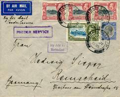 KENYA  UGANDA TANGANYIKA  - 25 JY 1935 , Luftpostbrief Nach Remscheid   -  Big Letter, Dispatch =  4,20 EURO - Kenia (1963-...)