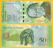 Venezuela 50 Bolivares P-92k 2015 UNC Banknote - Venezuela