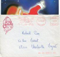 PERE NOËL. LIBOURNE. 1986. Enveloppe + Carte - Marcophilie (Lettres)
