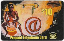 Suriname - Telesur - Drummer, Prepaid 10$, Used - Surinam