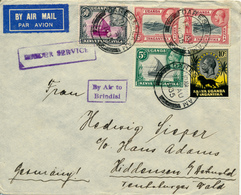 KENYA  UGANDA TANGANYIKA  - 15 AU 1935 , Luftpostbrief Nach Hiddenden   -  Big Letter, Dispatch =  4,20 EURO - Kenia (1963-...)